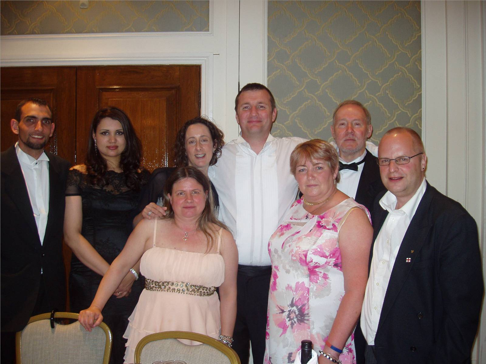 From left to Right: Bro.David and Kaveri, Helen, Charlotte and Bro.Stephen, Christine and W.Bro.Peter and Bro.Paul
